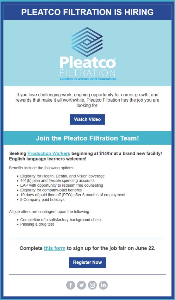 VP Operations IAF - Josh Saxon | Pleatco Filtration